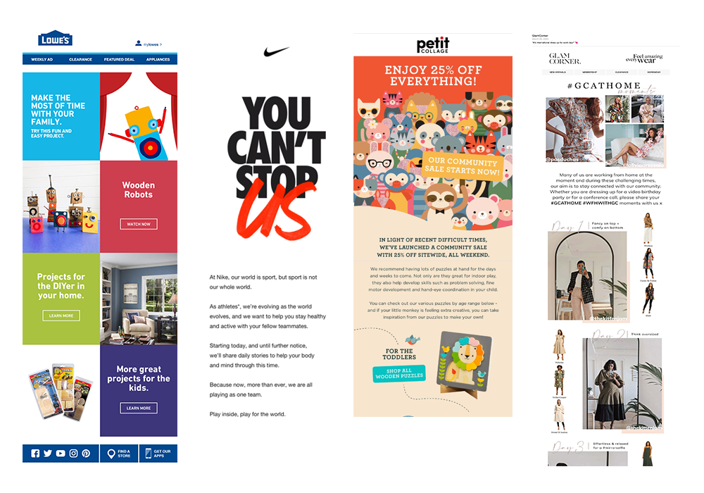 Retail email examples 1000x700
