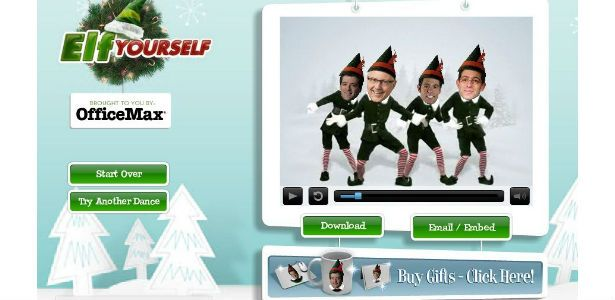 elf yourself ad